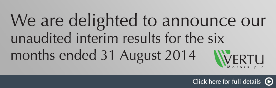 Unaudited interim results for the six months ended 31 August 2014
