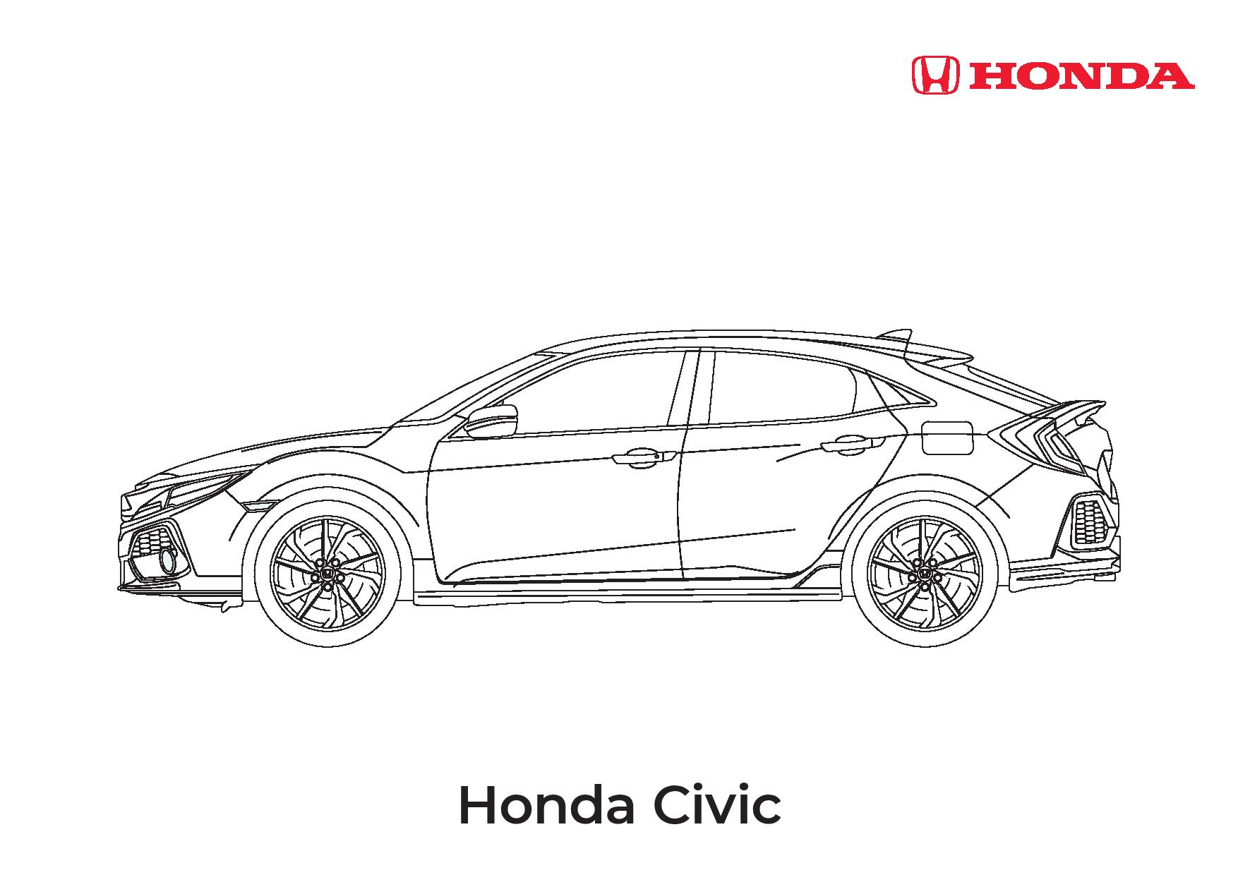 Vauxhall Astra Colouring Sheet