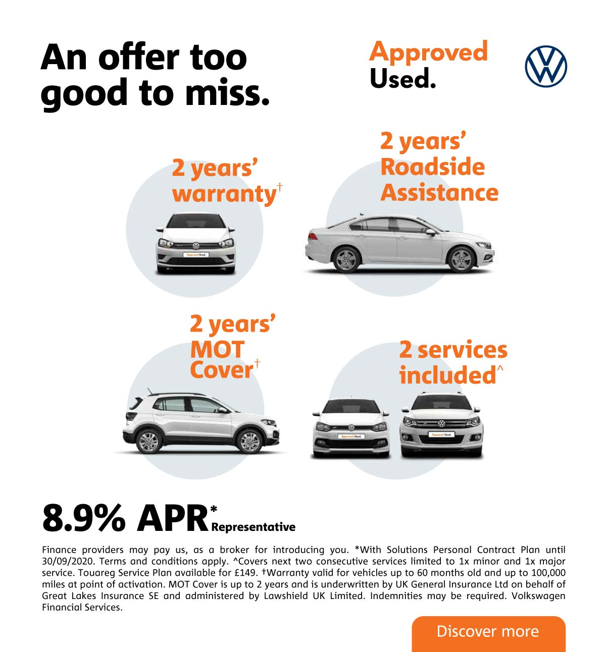 volkswagen Approved Used Tile September 2020