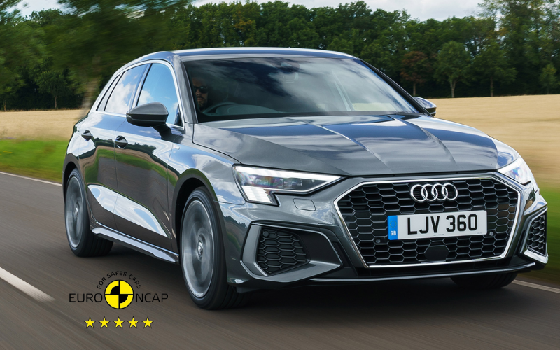 Audi A3 Receives 5-Star Rating in Euro NCAP Safety Test