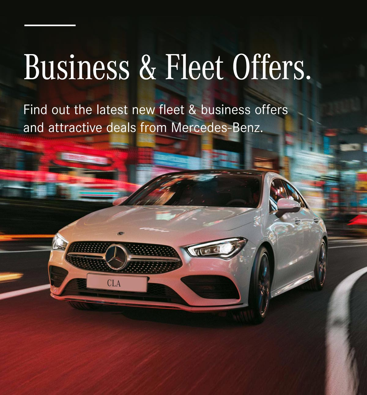 Mercedes Business Contract Hire